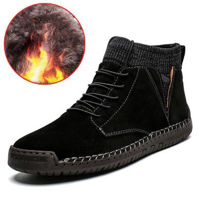 AILADUN Men Mid-high Warm Boots Outdoor Leisure Shoes Socks Mouth