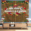 Christmas Digital Printing Tapestry Wooden Board Effect Background Cloth - MULTI-A