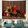 Christmas Candles Background Tapestry Cloth Digital Printing - MULTI-A