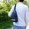 Men's Fashion Crossbody Bag Casual Mini Chest Pack Waterproof Fabric - BLUEBERRY BLUE