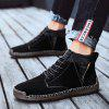 AILADUN Men Mid-high Warm Boots Outdoor Leisure Shoes Socks Mouth - BLACK