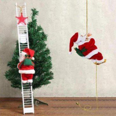 Electric Ladder Santa Claus Christmas Party Decoration Music Toy ( without Battery )