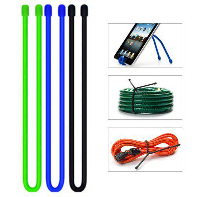 Multi-functional Reusable Cable Ties Rubber Rope Outdoor Bundled Changeable Storage Strap 6pcs