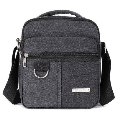 Homens Durable Canvas Crossbody Bag Zipper Casual Backpack Outdoor