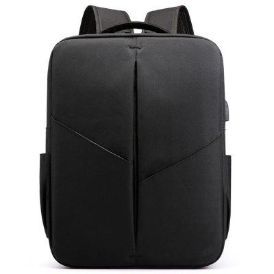Mannen Office Color Block Backpack Leisure Business Travel Computer Bag