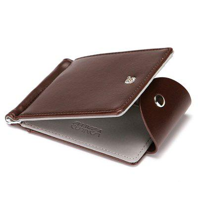 Férfi Solid Color Business Short Wallet Creative Flip Card Pack