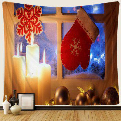 Christmas Window Candle Creative Home Living Room Bedroom Decoration Hanging Tapestry Cushion Beach Shooting Background Cloth