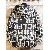 Mannen Winter Letters Printed Parka Loose Fashion Casual Jacket - ROOD