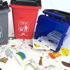 Trash Bin Garbage Classification Toy Card Game Props kinderen educatief speelgoed - MULTI-A