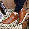 Male Plus Velvet Warm Winter Boots Casual Simple Stylish Shoes Zipper - BROWN