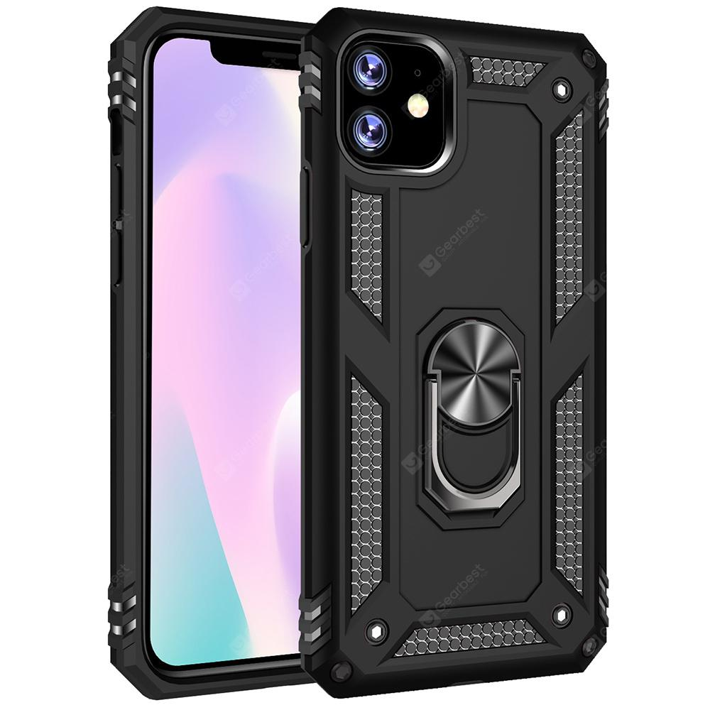 """Armor Ring Holder Shell Phone Case for iPhone 11 / iPhone 11 Pro / iPhone 11 Pro Max - for iPhone11 Black"""
