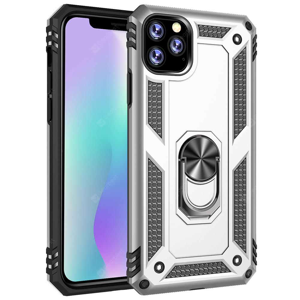 """Armor Ring Holder Shell Phone Case for iPhone 11 / iPhone 11 Pro / iPhone 11 Pro Max - for iphone11ProMax Silver"""