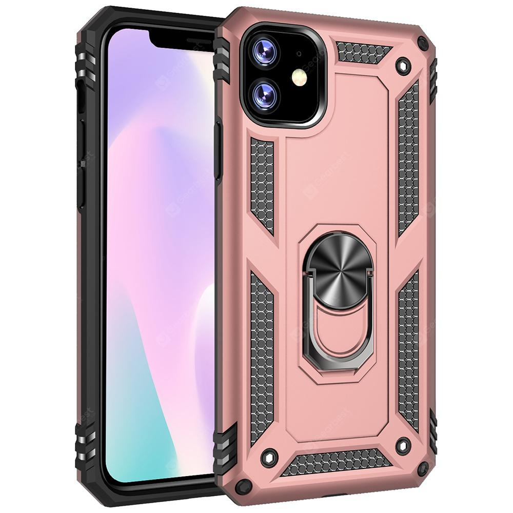 """Armor Ring Holder Shell Phone Case for iPhone 11 / iPhone 11 Pro / iPhone 11 Pro Max - for iPhone11 Rose Gold"""