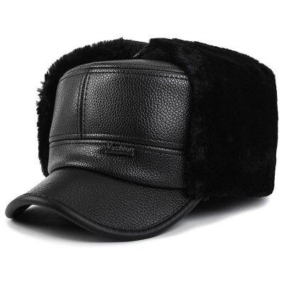 Male Plus Velvet Warm Bomber Hat Fashion Furry Cap Ear Protection