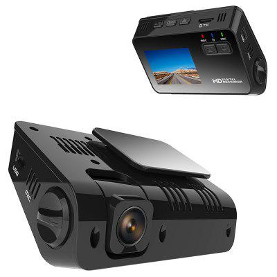 Junsun Q4 Car DVR 2 inch Screen 1080P HD Recording 24H Parking Monitor Flexible Camera Lens