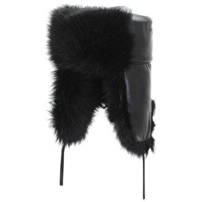 Muž Plus Velvet Warm Bomber Hat vetra Thick Furry Cap