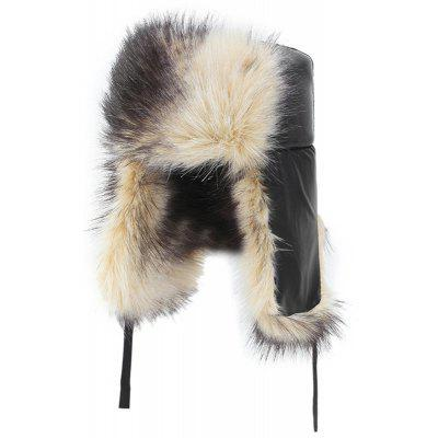 Masculino Velvet Mais Quente Bomber Cap Furry Grosso Windproof Hat