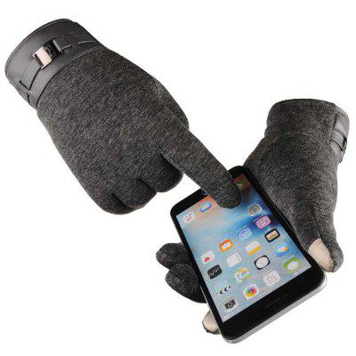 Man Business Touch Screen Gloves Driving Cycling Outdoor Sports Glove Warm Non-slip