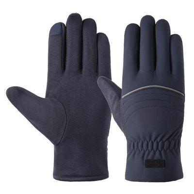 Men's Autumn Winter Warm Gloves Touch Screen Cycling Glove
