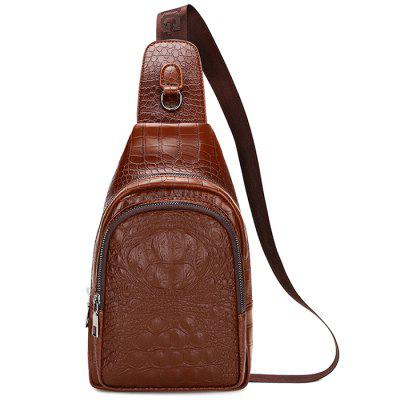 Men's Retro Soft Crossbody Bag Small Backpack Leisure