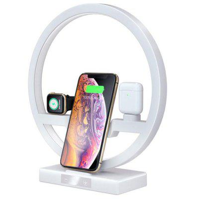 3 in 1 Multi-function Wireless Charger LED Lamp for iPhone iWatch AirPods