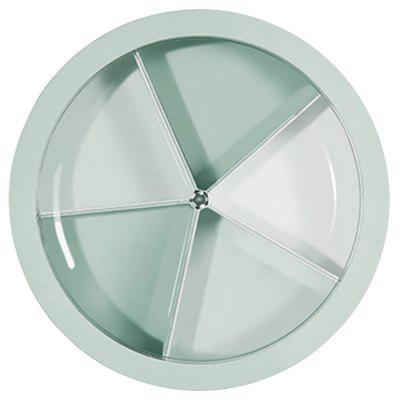 Nordic Style Circular Transparent Cover Tray Gedroogd fruit Snacks Vijf Grid gesloten behuizing Candy Storage Box