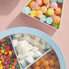 Nordic Style Circular Transparent Cover Tray Dried Fruit Snacks Five Grid Sealed Housing Candy Storage Box - BLUE