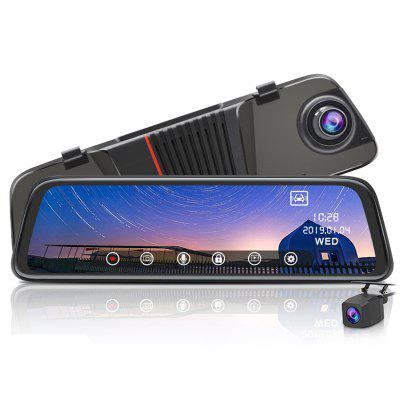 Junsun H11C Car DVR 10 inch Touch Screen 1080P FHD Dual Camera Recording 24H Parking Monitor afneembaar Front Camera Lens 170 ° Wide Angle