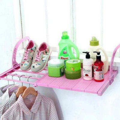 Retractable Balcony Shelf with Cover Drying Shoe Rack Window Holder Guardrail Safety Security Window Bracket