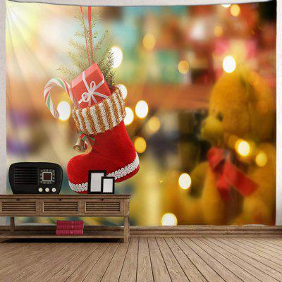 Christmas Gift Red Boots Digital Printing Tapestry Cloth Hanging