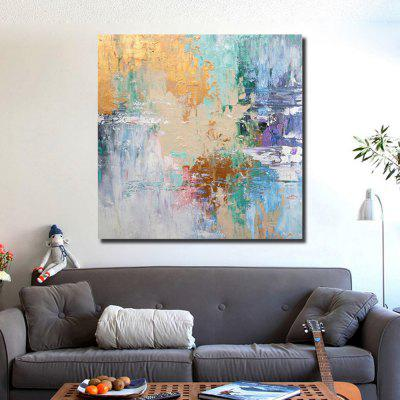 QINGYAZI HQS19101 Hand-painted Abstract Frameless Oil Painting Home Wall Art
