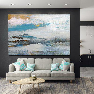 QINGYAZI HQS19102 Hand-painted Abstract Frameless Oil Painting Home Wall Art