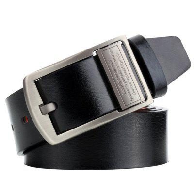 Men Antique Finish Pin Buckle Belt Flippable Retro Casual Waistband