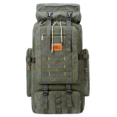 Men 35L Large Capacity Canvas Backpack Multi-bag Design Practical Durable Mountaineering Bags