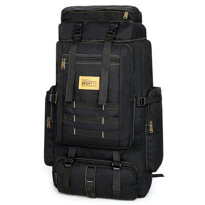 Men Canvas Versatile Backpack Durable Mountaineering Bags 42L