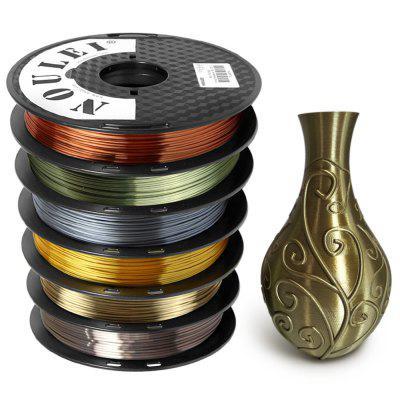 Noulei 3D Printer PLA Filament Silk 1.75mm 500g Spool 6pcs