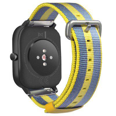 TAMISTER Woven Striped Canvas Strap Smart Watch Replacement Wristband for Amazfit GTS 20mm