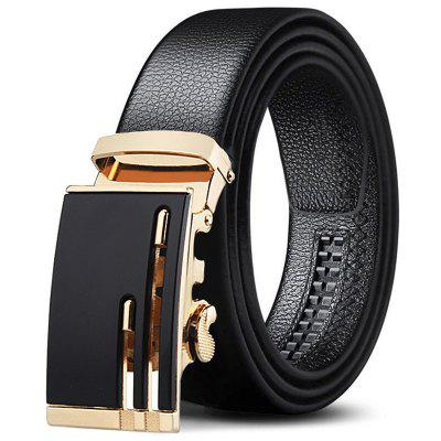 Automatic Buckle Easy-jogo casual masculino Belt Moda Embossed Cintura