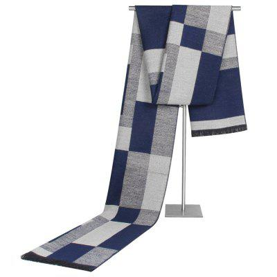 Men's Business Patchwork plaidsjaal Classic Color Block Ontwerp halsdoek Soft Comfortabele