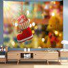 Christmas Gift Red Boots Digital Printing Tapestry Cloth Hanging - MULTI-A