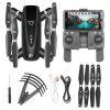 S167 Foldable GPS WiFi FPV Drone with HD Camera - BLACK