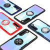 Transparent Ring Holder Shell Phone Case for Xiaomi Redmi Note 8 - RED