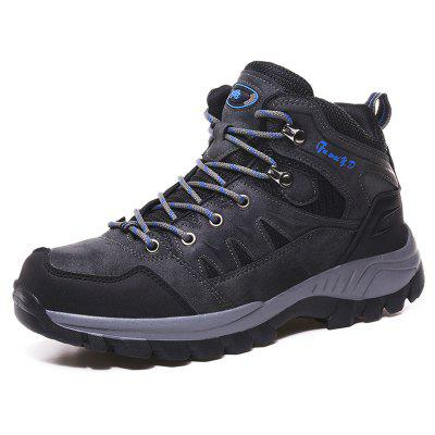 Men's Large Size Rubber Outsole Sneaker High-top Outdoor Climbing Shoes