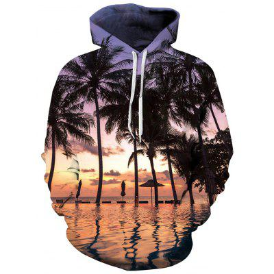 Mannen Leisure Landschap Printing Hoodie Fashion Trui