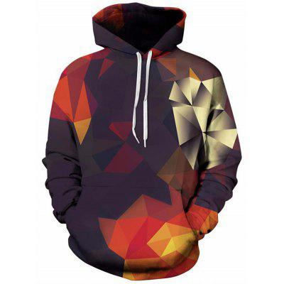 Men Color Block Digital Printing Hoodie Fashion Hooded Baseball Uniform with Drawstring