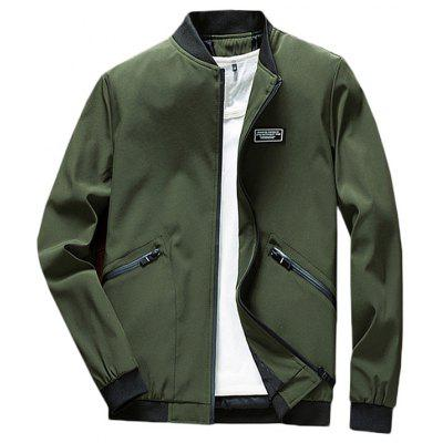 Men's Fashion Solid Color Jacket Durable Comfortable Baseball Uniform