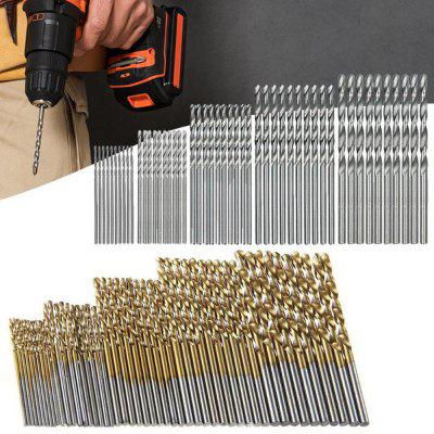 1.0mm - 3.0mm High Speed ​​Steel White Boor en Titanium Twist Drill 100st