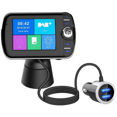DAB004 Car DAB Radio Adapter Hands-free FM Transmitter Bluetooth MP3 Player Dual USB Charger