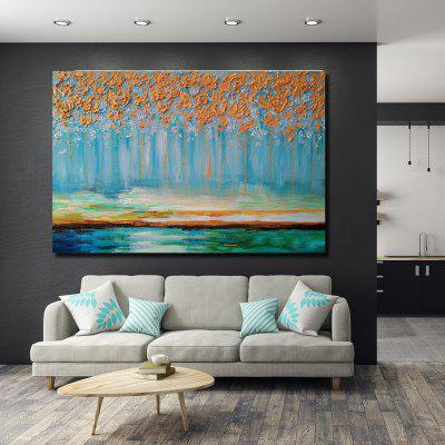 QINGYAZI HQS19106 Hand-painted Abstract Oil Painting Frameless Paintings Home Wall Art