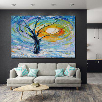 QINGYAZI HQS19109 Hand-painted Abstract Oil Painting Frameless Paintings Home Wall Art